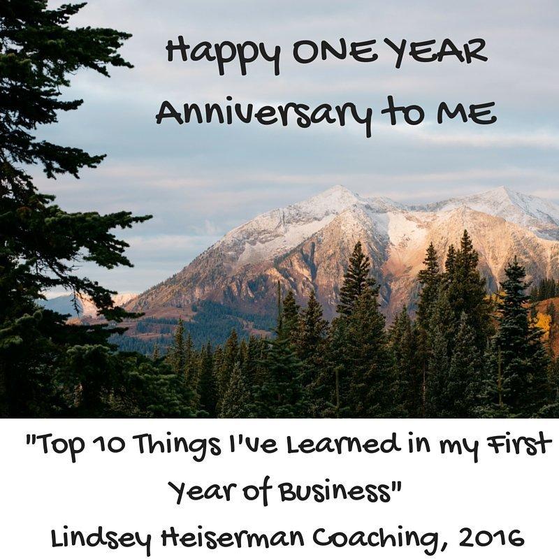 Happy ONE YEAR Anniversary to ME